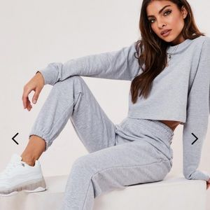 New Missguided cropped sweater& joggers co ord set
